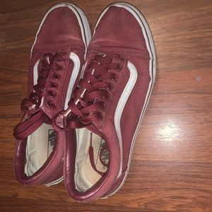 Old school vans maroon/ burgundy